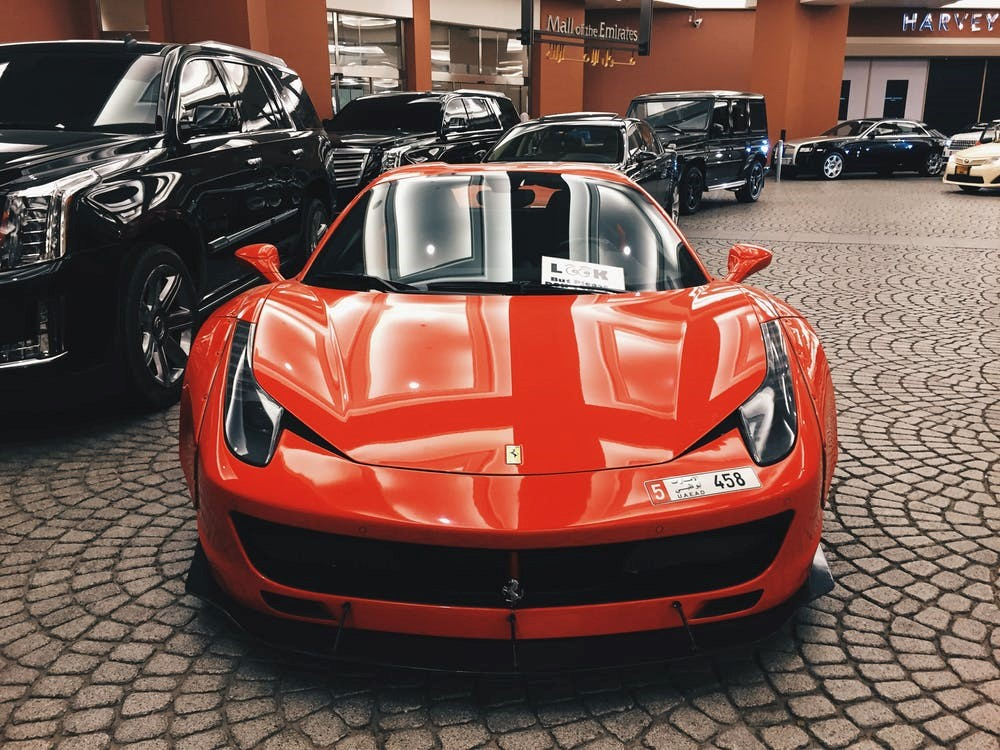 red exotic car